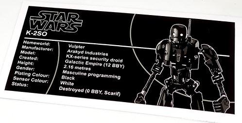 Lego Star Wars UCS / MOC Sticker for K-2SO 75120