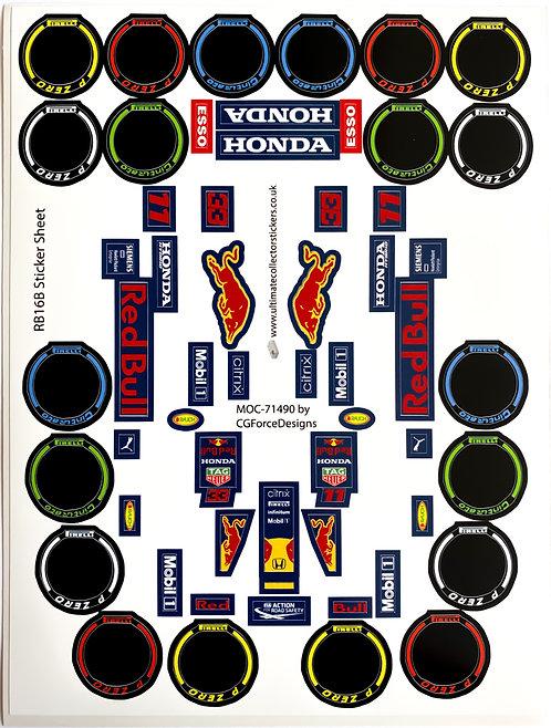 Lego Sticker Sheet for F1 Red Bull Racing RB16B by LegoCG (MOC-71490)