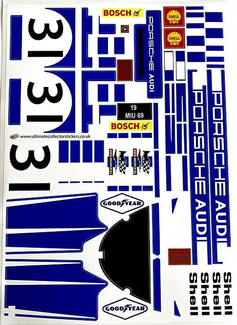 Lego Technic UCS / MOC Sticker for Porsche 917K No.23 (MOC-32980) - Blue Edition