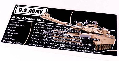 Lego Creator UCS / MOC Sticker for M1A1 Abrams Tank