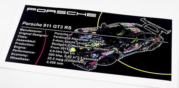 Lego Technic UCS / MOC Sticker for Porsche 911 GT3 RS 42056 (custom)