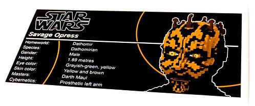 Lego Star Wars UCS / MOC Sticker for Savage Opress