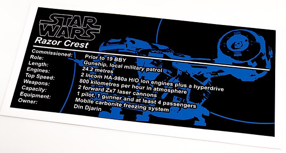 Lego Star Wars UCS / MOC Sticker for The Razor Crest (MOC-37840)