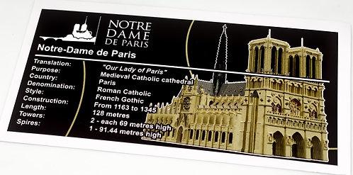 Lego Creator MOC Sticker for Notre Dame de Paris (MOC-43974)