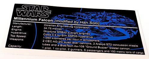 Lego Star Wars UCS Sticker for Millennium Falcon 75192