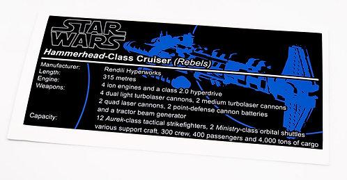 Lego Star Wars UCS / MOC Sticker for Hammerhead-Class Cruiser (Rebels)