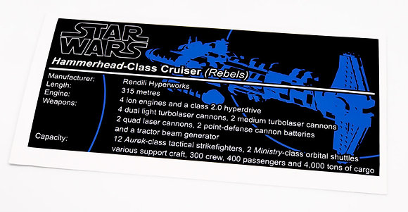 Lego Star Wars UCS / MOC Sticker for Hammerhead-Class Cruiser (Rogue One)