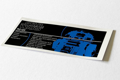 Lego Star Wars UCS / MOC Sticker for R2-Q5