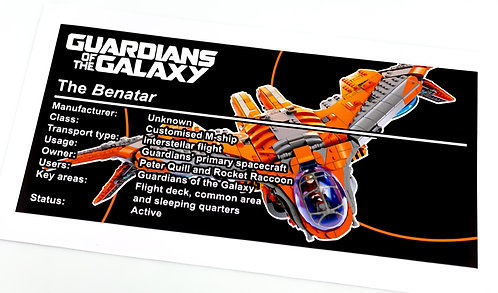 Lego Guardians of The Galaxy UCS Sticker for The Benatar (76193)