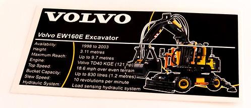 Lego Technic UCS Sticker for Volvo EW160E 42053