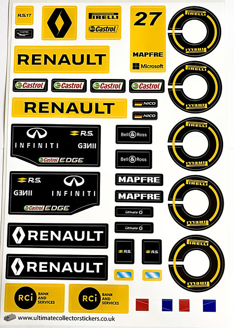 Lego Sticker Sheet for Renault F1 R.S. 17 - 40th Anniversary