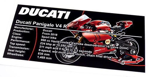 Lego Technic UCS / MOC Sticker for Ducati Panigale 42107