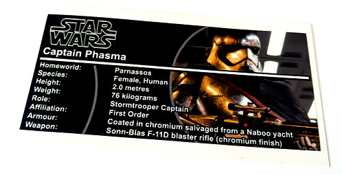 Lego Star Wars Buildable Figure Sticker for Captain Phasma (75118)