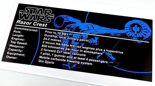 Lego Star Wars UCS / MOC Sticker for The Razor Crest by RichboyJhae