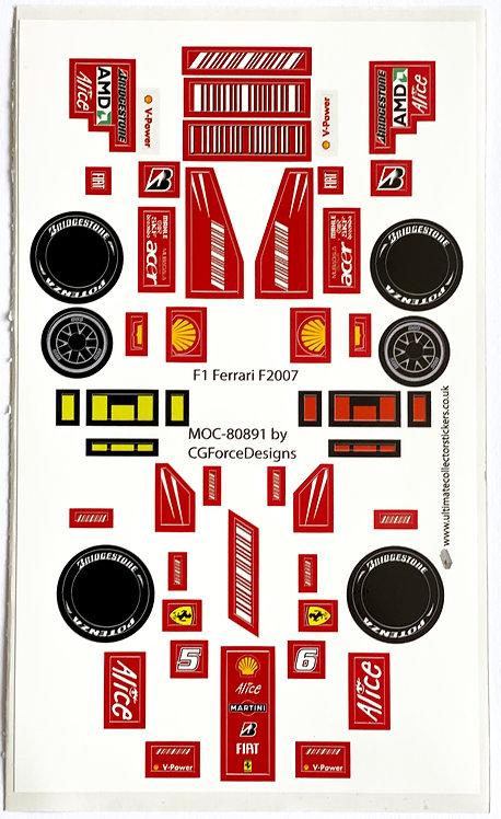 Lego Sticker Sheet for F1 Ferrari F2007 by LegoCG (MOC-80891)