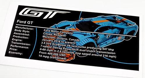 Lego Technic UCS / MOC Sticker Ford GT (MOC-10792 Custom v2)
