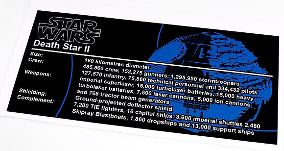 Lego Star Wars UCS Sticker for Death Star II 10143