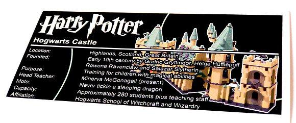 Lego Harry Potter UCS Sticker Hogwarts Castle (4709 / 4757 / 4842 / 5378)