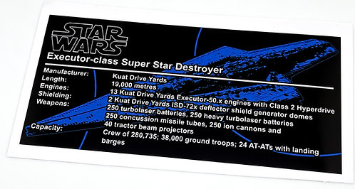 Lego Star Wars MOC Sticker for Executor class Star Dreadnought (MOC-15881)