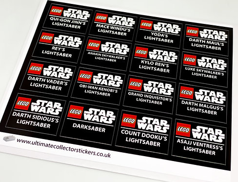 Lego Star Wars UCS / MOC Stickers for Lightsabers (5006290)