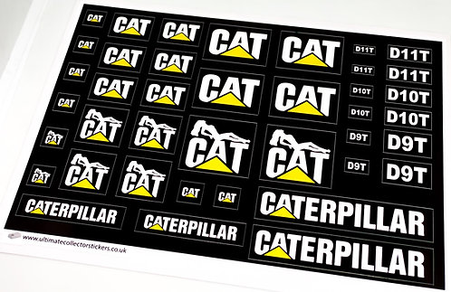 Lego Technic UCS / MOC Stickers for Cat Vehicles (Small)