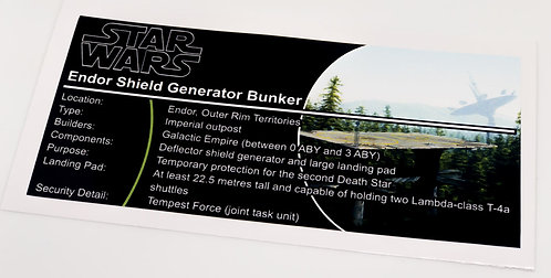 Lego Star Wars UCS / MOC Sticker for Endor Shield Generator