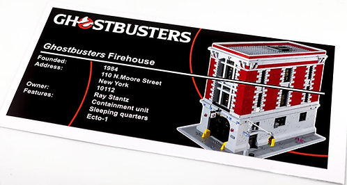 Lego Creator UCS Sticker for Ghostbusters Firehouse Headquarters 75827