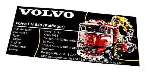 Lego Technic UCS Sticker for Crane Truck 8258
