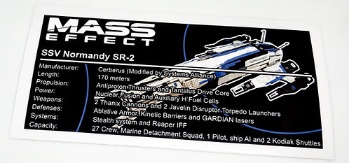 Lego Mass Effect UCS / MOC Sticker for Normandy SR-2 (version 2)