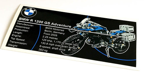 Lego Technic UCS / MOC Sticker for BMW R 1200 GS 42063