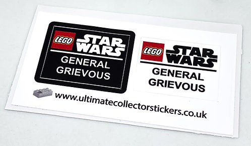 Lego Star Wars UCS / MOC Sticker for General Grievous Helmet (MOC-80751)