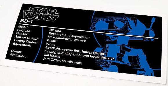 Lego Star Wars UCS / MOC Sticker for BD-1