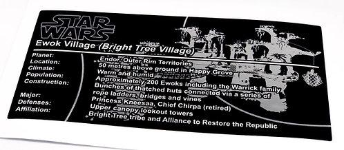Lego Star Wars UCS Sticker for Ewok Village 10236 - Metallic