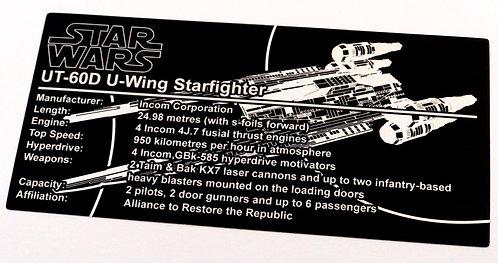 Lego Star Wars UCS / MOC Sticker for UT-60D U-Wing (SB00101 / 75155) - Metallic
