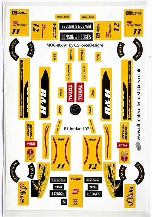 Lego Sticker Sheet for F1 Jordan 197 by LegoCG (MOC-80691)