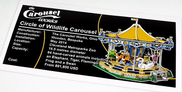 Lego Creator UCS Sticker for the Carousel 10257
