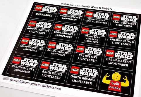Lego Star Wars UCS / MOC Stickers for Lightsabers Pack 2 (built_bricks)