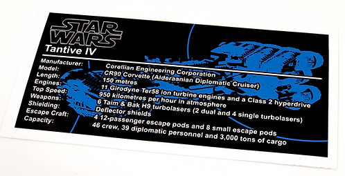 Lego Star Wars UCS Sticker for Tantive 4 (10198 / 10019)