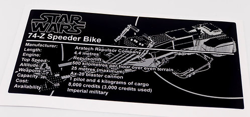 Lego Star Wars UCS / MOC Sticker for Imperial Speeder Bike Anio ST13 - Metallic