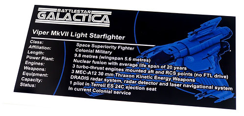 Lego UCS / MOC Sticker for Battlestar Galactica Viper Mark VII