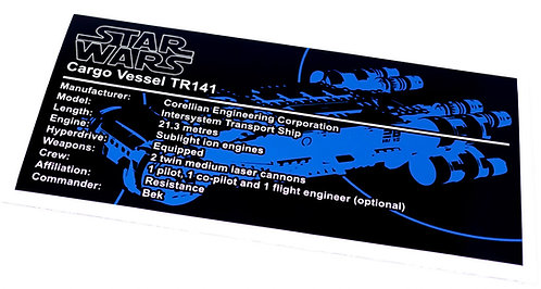 Lego Star Wars UCS / MOC Sticker for Resistance I-TS Transport 75293
