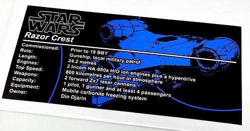 Lego Star Wars UCS / MOC Sticker for The Razor Crest by Jerac