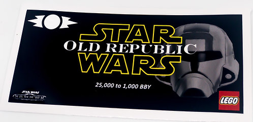 Lego Star Wars UCS Sticker for The Old Republic