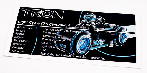 Lego Creator UCS Sticker for Tron Legacy Light Cycle 21314