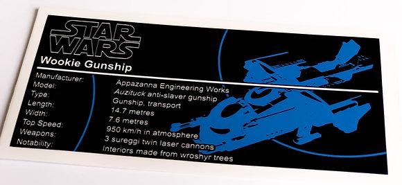 Lego Star Wars UCS Sticker for Wookiee Gunship 75084