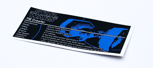 Lego Star Wars UCS / MOC Sticker for TIE Crawler 7664