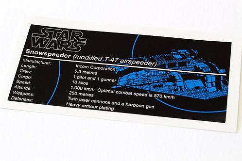 Lego Star Wars UCS / MOC Sticker for Rebel Snowspeeder 10129