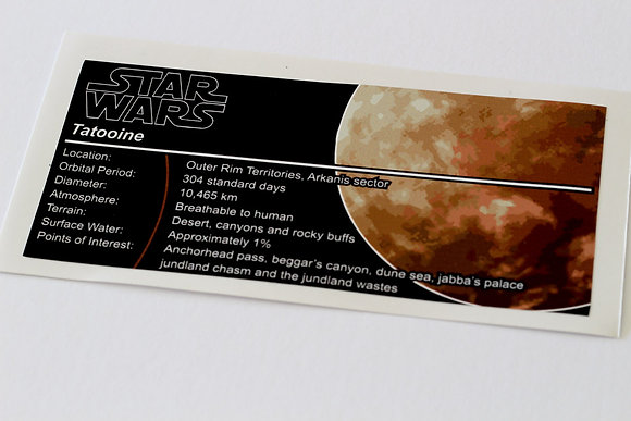 Lego Star Wars UCS / MOC Sticker for Planet Tatooine
