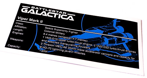 Lego UCS / MOC Sticker for Battlestar Galactica Viper Mark II