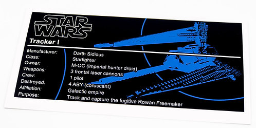 Lego Star Wars UCS Sticker for Tracker I 75185